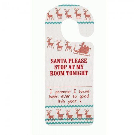 "Waiting for Santa ""Stop Here"" Door Sign-Party Supplies-TT-Talking Tables-Putti Fine Furnishings"