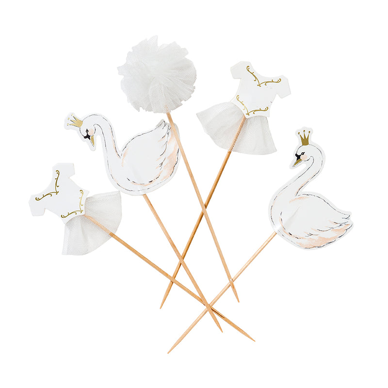 """We Heart Swans"" Cake Toppers, TT-Talking Tables, Putti Fine Furnishings"