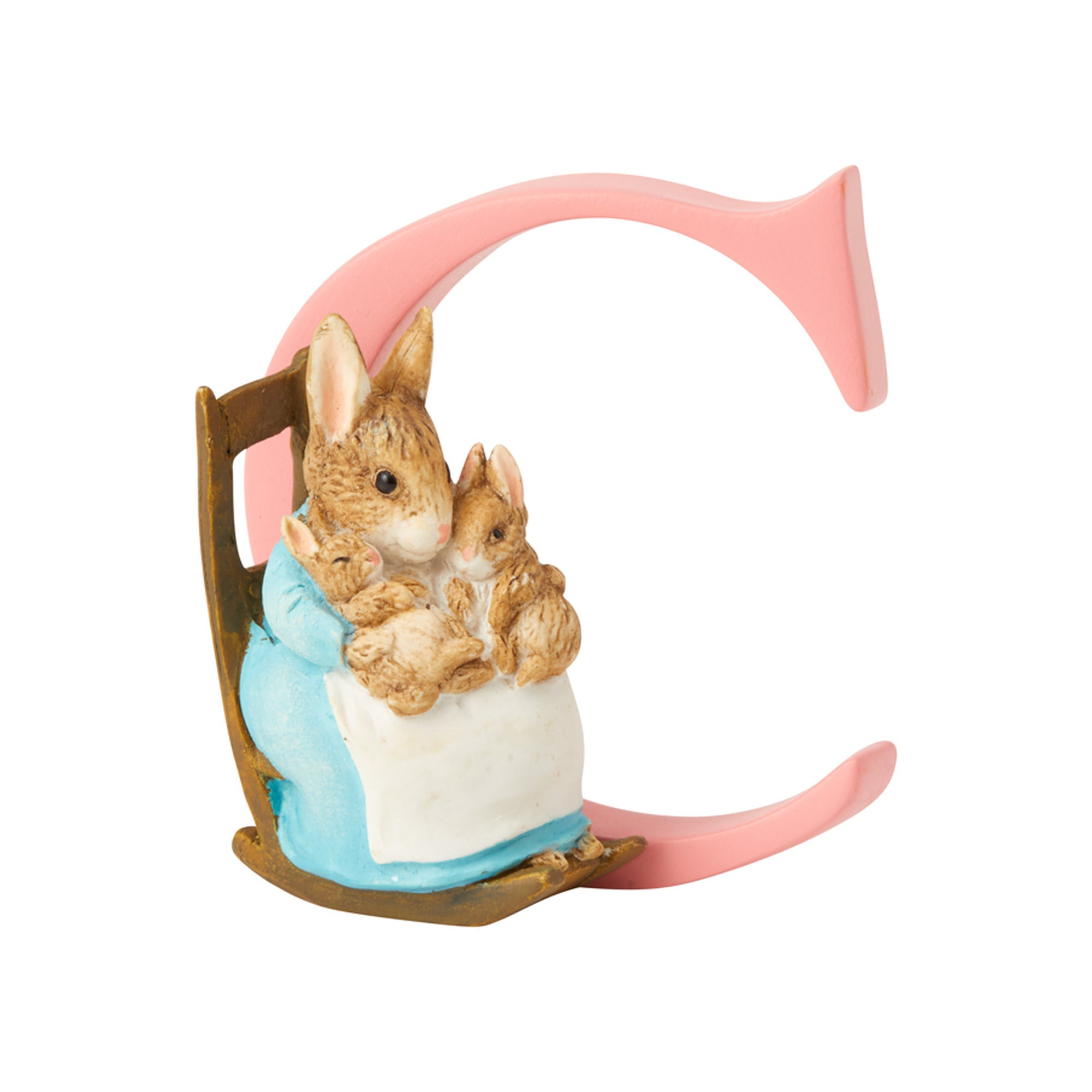 "Gund ""C"" Mrs. Rabbit and Bunnie Alphabet Letter"