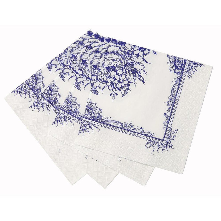 Party Porcelain Blue Paper Napkins