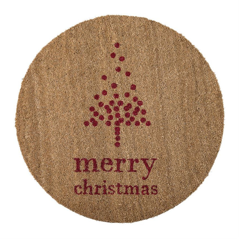 "Bloomingville ""Merry Christmas"" Round Doormat - Putti Fine Furnishings"