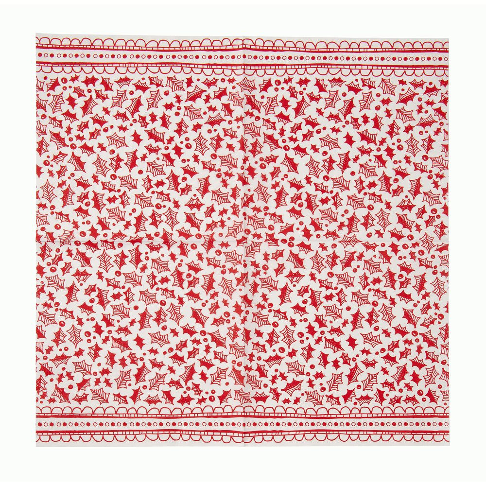 Red & White Christmas Dinner Napkin -  Party Supplies - Talking Tables - Putti Fine Furnishings Toronto Canada - 3
