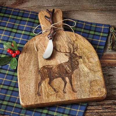 Tag ltd Stag Serving Board with Knife | Putti Fine Furnishings Canada