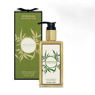 Abahna White Grapefruit & May Chang Shower Gel 250ml-Bath Products-Abahna-Putti Fine Furnishings