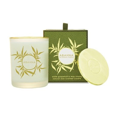 Abahna White Grapefruit & May Chang Candle 180g -  Candles - Abahna - Putti Fine Furnishings Toronto Canada