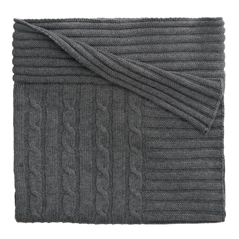 Elegant Baby Classic Cable Charcoal Blanket, EB-Elegant Baby, Putti Fine Furnishings