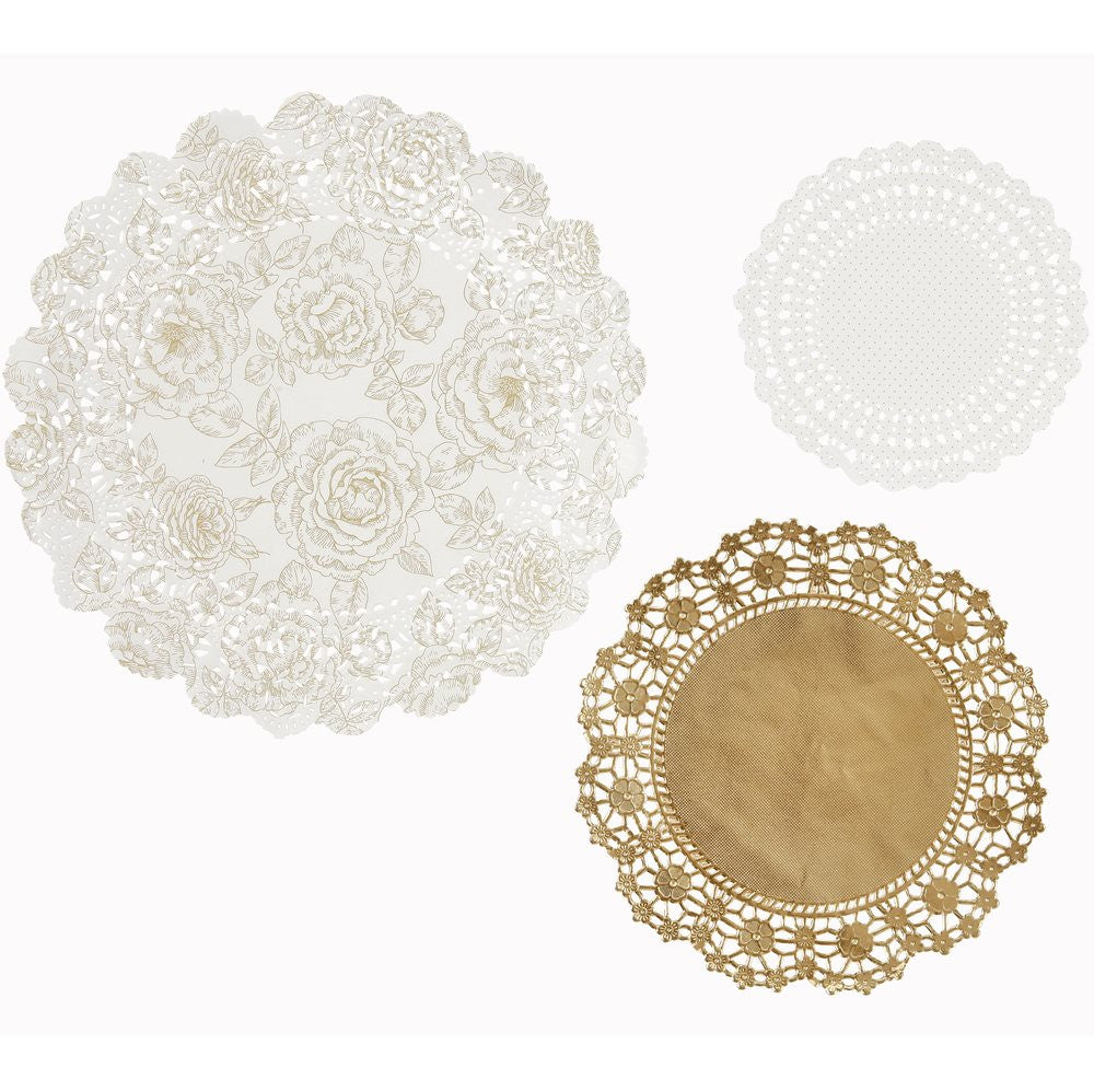 Party Porcelain Gold Doilies, TT-Talking Tables, Putti Fine Furnishings