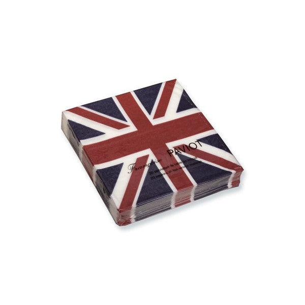 "Francoise Paviot ""Union Jack"" Cocktail Napkin, FP-Francoise Paviot, Putti Fine Furnishings"