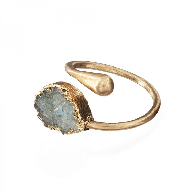 "Lovett & Co. ""Druzy"" Stone Ring - Blue"