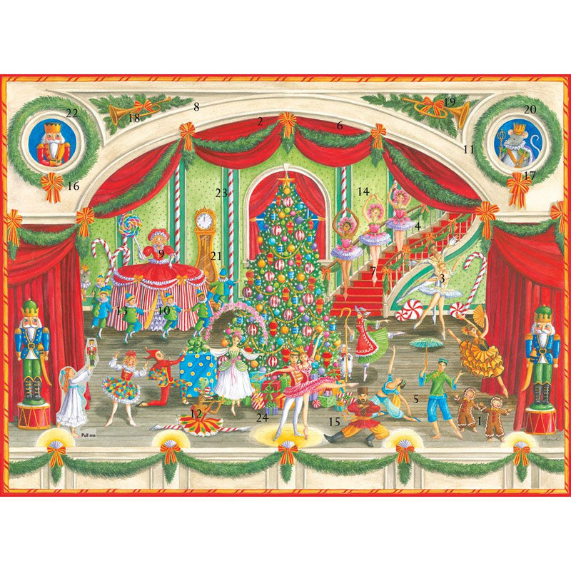 Caspari Christmas Nutcracker Ballet Advent Calendar | Putti Canada