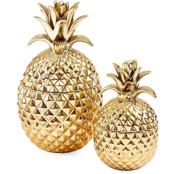 Gold Pineapple Jars, TC-Two's Company, Putti Fine Furnishings