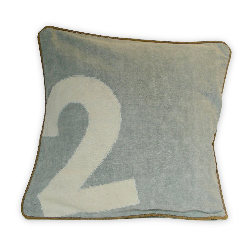 Canvas Polo Number Cushions -  Soft Furnishings - Culinary Concepts London - Putti Fine Furnishings Toronto Canada - 2