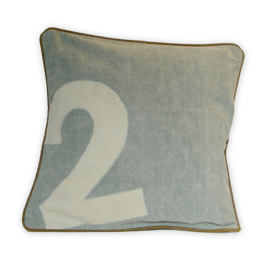 Canvas Polo Number Cushions