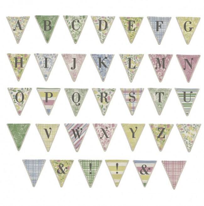Meri Meri Alphabet Bunting - Striped Pattern, MM-Meri Meri UK, Putti Fine Furnishings