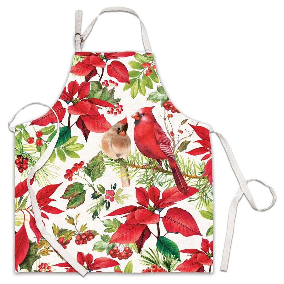 Michel Design Works Poinsettia Apron | Putti Christmas