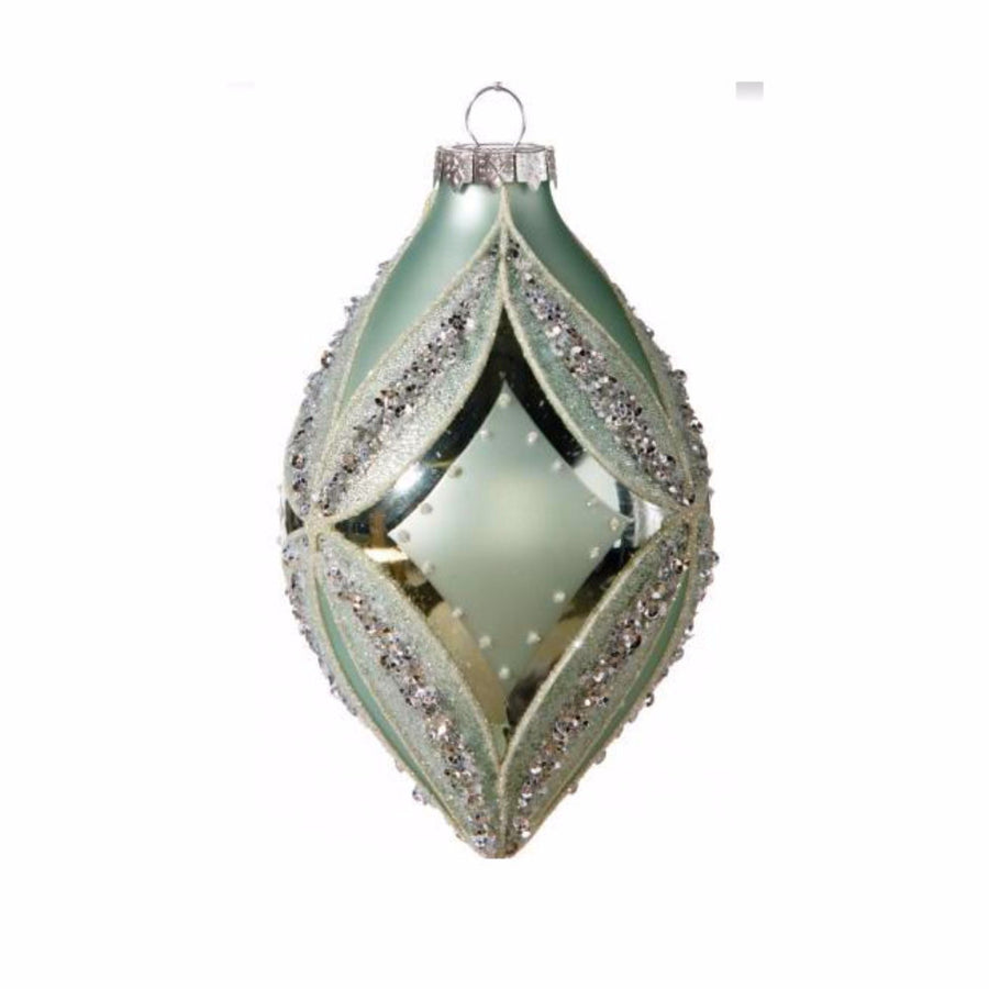 Aqua Double Point Ornament