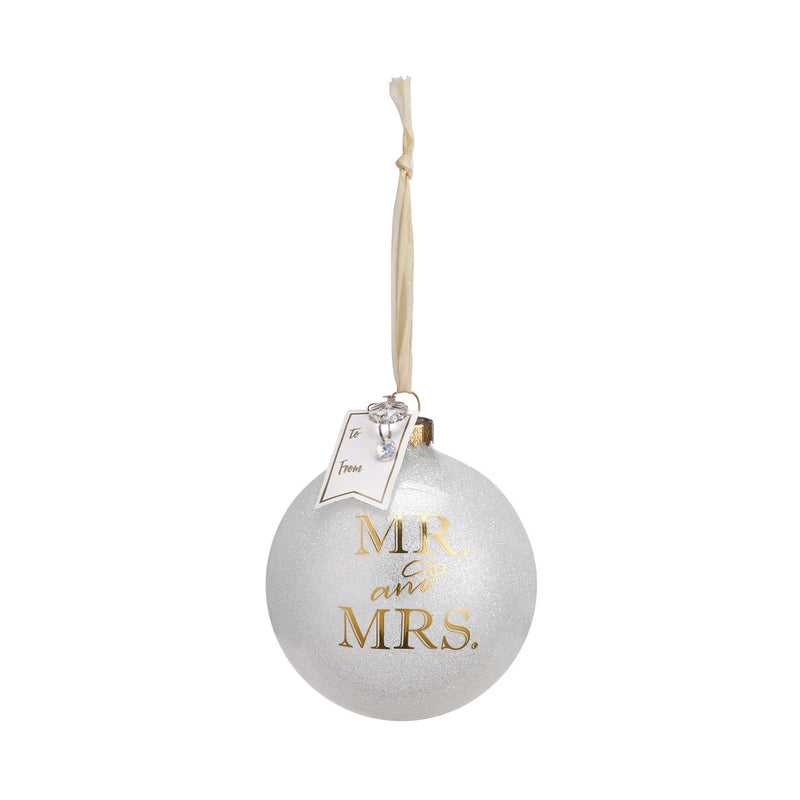 """Mr and Mrs"" Message Ball Ornament 