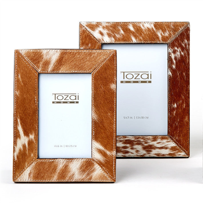 Tozai Natural Brown Cowhide Picture Frames
