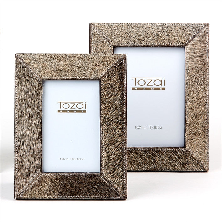 Tozai Natural Grey Cowhide Picture Frames, TH-Tozai Home, Putti Fine Furnishings