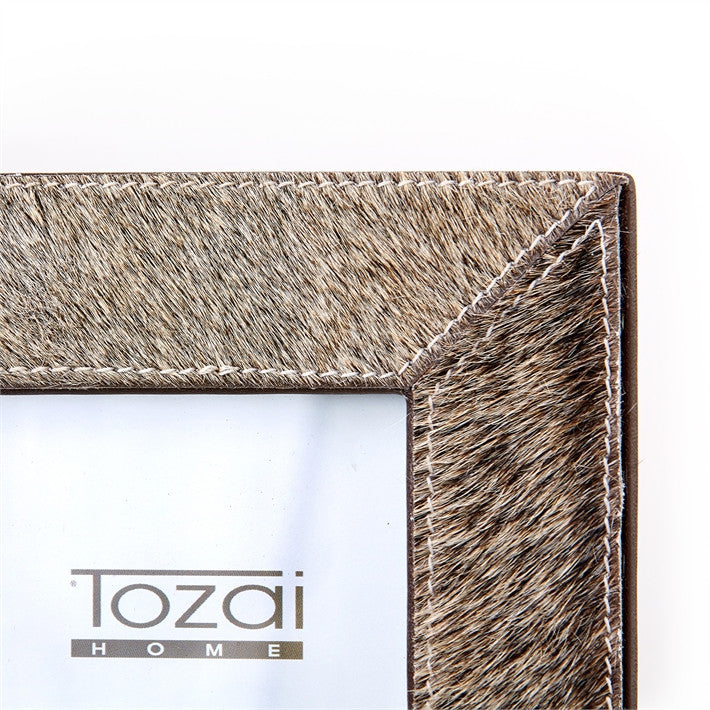 Tozai Natural Grey Cowhide Picture Frames