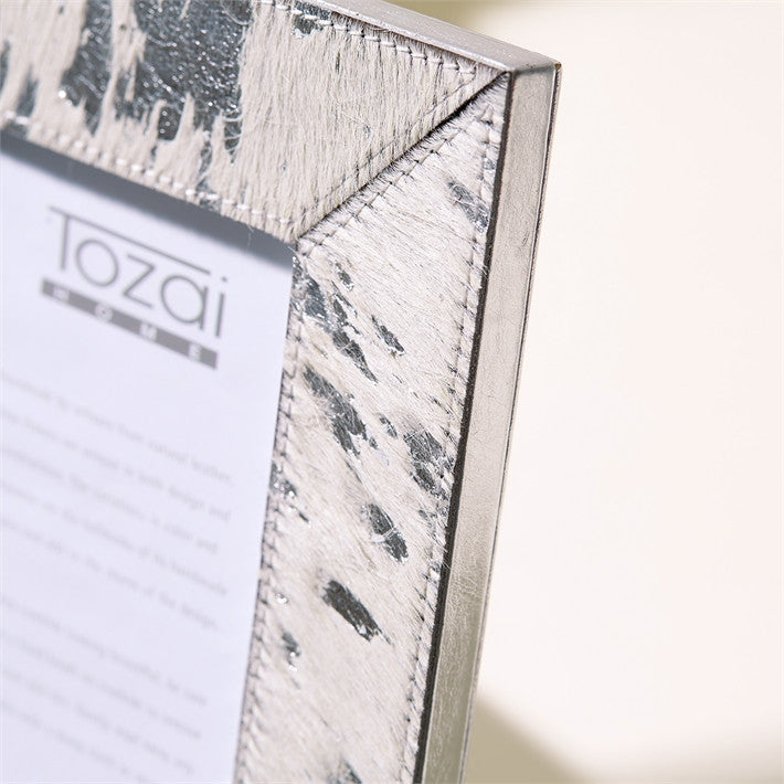 Tozai Silver Cowhide Picture Frames