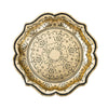 Baroque Black & Gold Medium Paper Plates, TT-Talking Tables, Putti Fine Furnishings