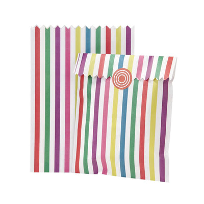 Multi Colored Stripe Treat Bags, TT-Talking Tables, Putti Fine Furnishings