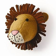 Felt Safari Trophy head - Lion, TC-Two's Company, Putti Fine Furnishings