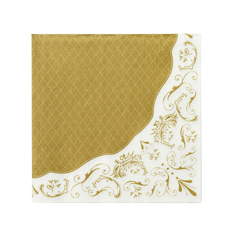 Party Porcelain Gold Paper Luncheon Napkins