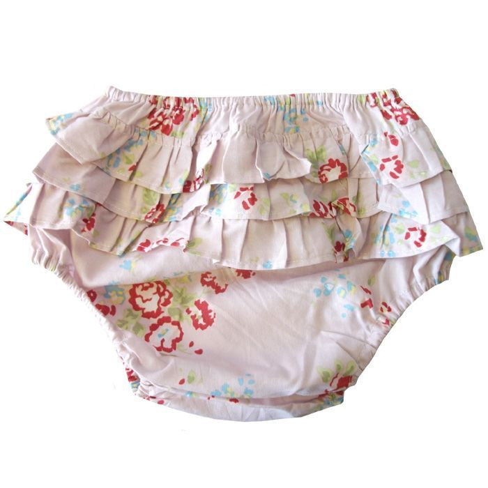Pink Mixed Floral Frilly Knickers -  Frilly Knickers - Powell Craft Uk - Putti Fine Furnishings Toronto Canada - 1