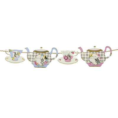 Truly Alice Teapot Bunting -  Party Supplies - Talking Tables - Putti Fine Furnishings Toronto Canada - 3