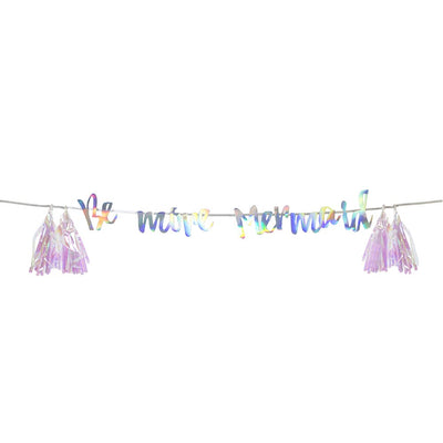 """Be More Mermaid"" Hanging Garland, TT-Talking Tables, Putti Fine Furnishings"