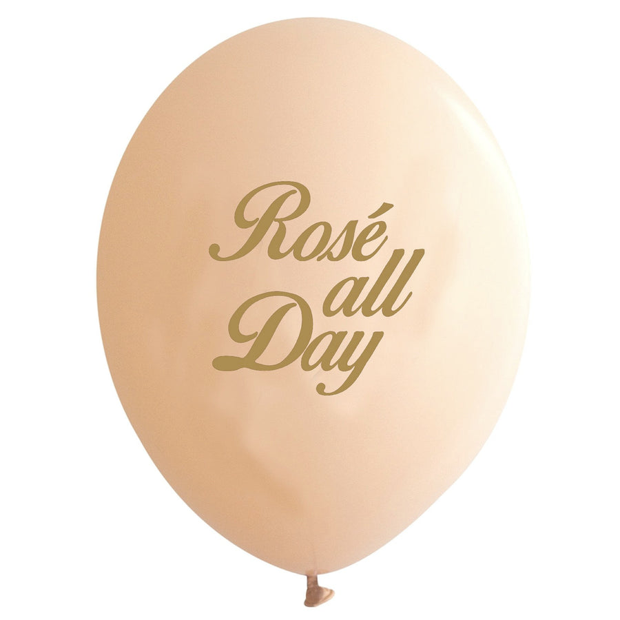 """Rose all Day!""Balloon - Gold / Blush"