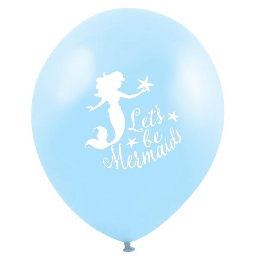 """Let's be Mermaids"" Balloon - Light Blue"