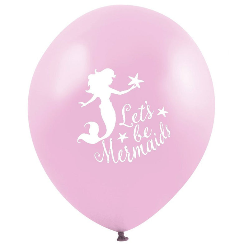 """Let's be Mermaids"" Balloon - Pink, VA-Vintage AngelVA-Vintage Angel, Putti Fine Furnishings"
