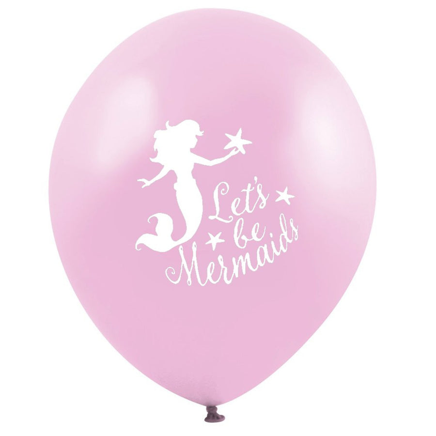 """Let's be Mermaids"" Balloon - Pink"
