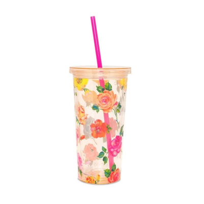 ban.do Sip Sip Tumbler with Straw - Coming up Roses | bando | Putti Canada