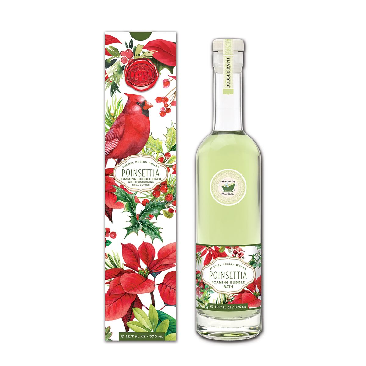 Michel Design Works Poinsettia Bubble Bath | Putti Christmas Canada