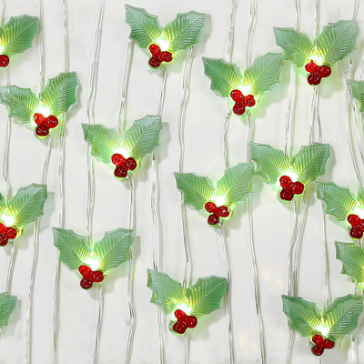 Botanical Christmas Holly String Lights, TT-Talking Tables, Putti Fine Furnishings