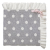 Elegant Baby Grey Dot with Ruffle Blanket, EB-Elegant Baby, Putti Fine Furnishings