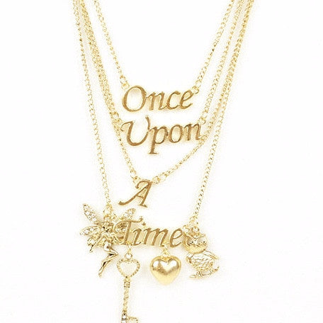 """Once Upon a Time"" Gold Necklace, Crystal World, Putti Fine Furnishings"