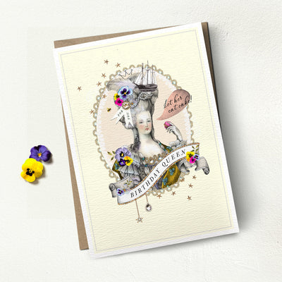 "Stephanie Davies ""Birthday Queen"" Greeting Card 