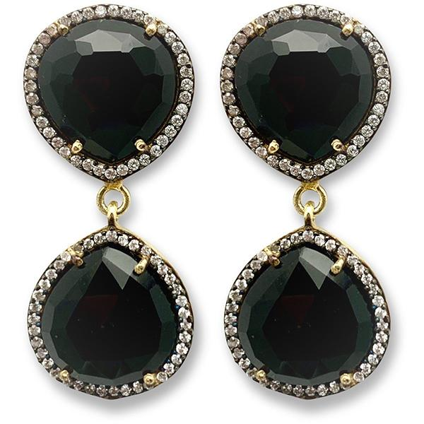 BLACK ONYX DOUBLE DROP EARRINGS | VALENTINE ROUGE | TORONTO, CANADA