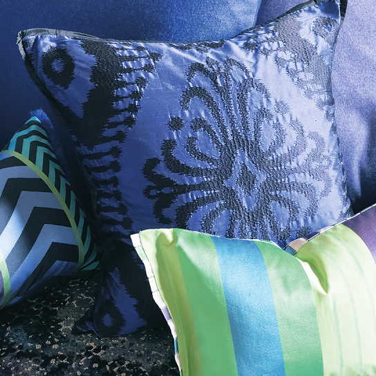 Designers Guild Pashan Cobalt Throw Pillow - 50%-Pillow-DG-Designers Guild-Cobalt-Putti Fine Furnishings