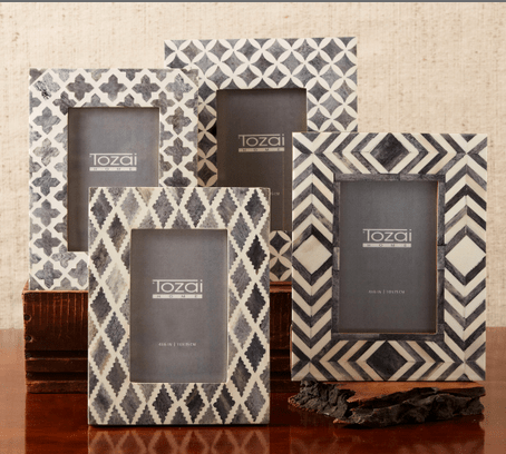 Tozai Grey Bone Mosaic Photo Frame