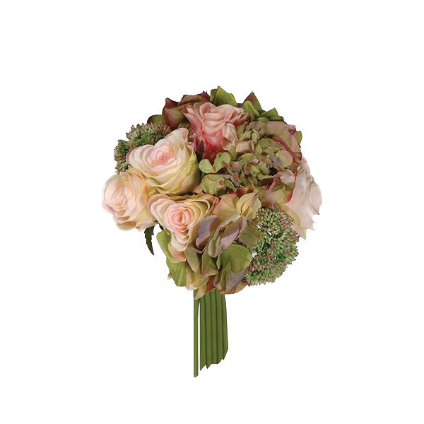 Rose and Hydrangea Posy -  Artificial Flowers - Coach House - Putti Fine Furnishings Toronto Canada
