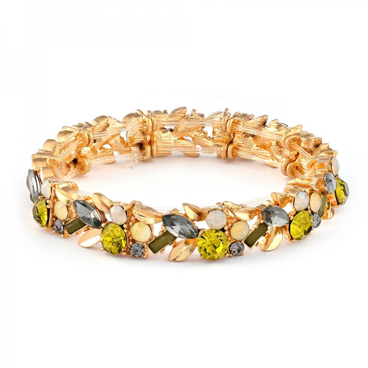 "Lovett & Co. ""Laurel Leaf"" Bracelet - Khaki Green"