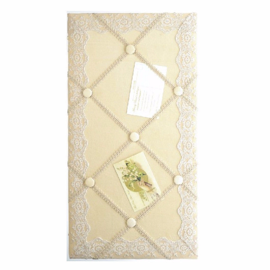 Miss Rose Sister Violet Velvet & Lace Bulletin Board-Miss Rose Sister Violet-Putti Fine Furnishings