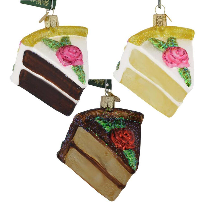 Piece of Cake Glass Ornament