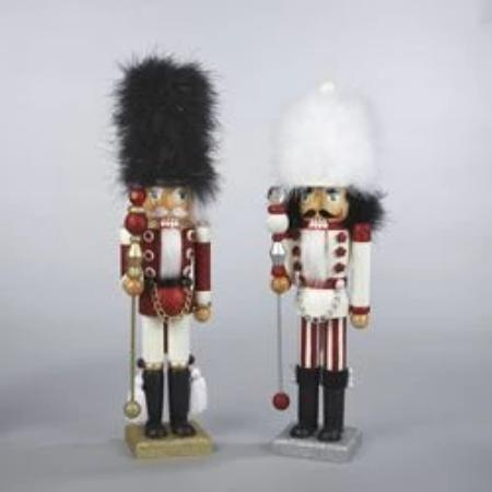 Kurt Adler Black and White Hat Nutcracker Soldiers